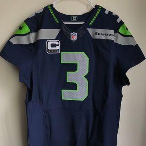 Russell Wilson Nike Elite Captain Jersey 48